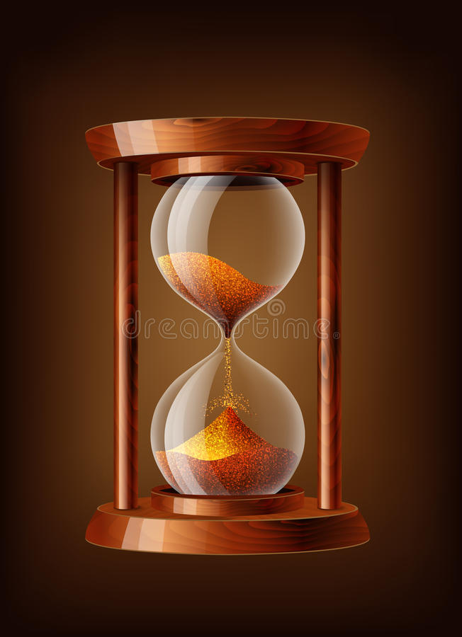 Horloge transparente de sable illustration libre de droits