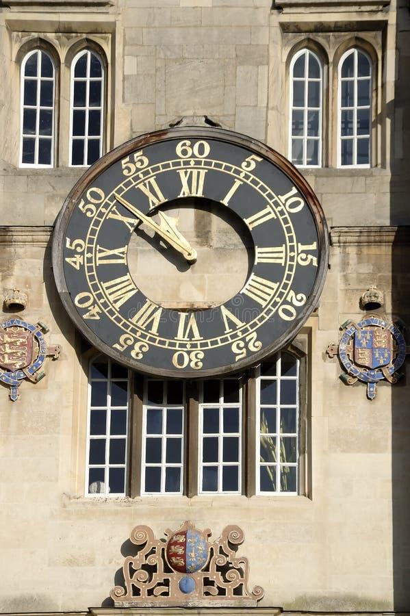 Horloge, université de trinité, Cambridge photographie stock libre de droits