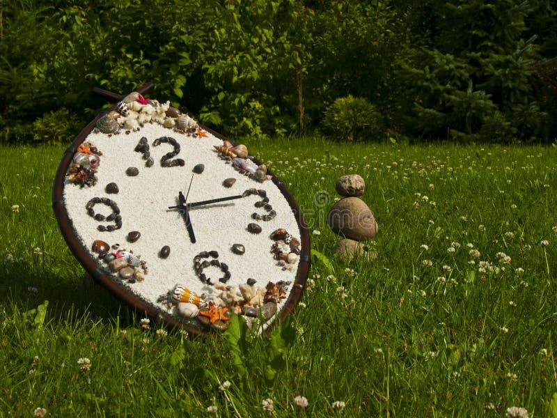 Horloge van bamboe stock foto