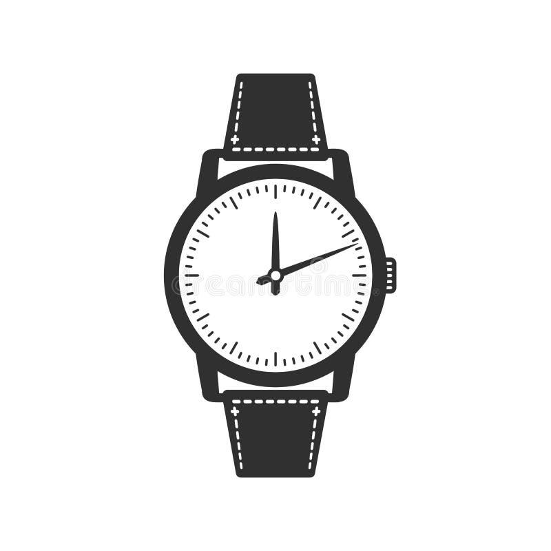 Horloge vectorpictogram royalty-vrije illustratie