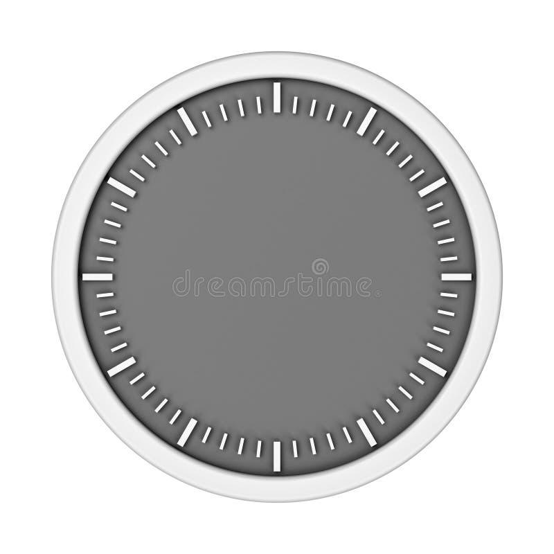 Horloge vide blanche sans flèches illustration libre de droits