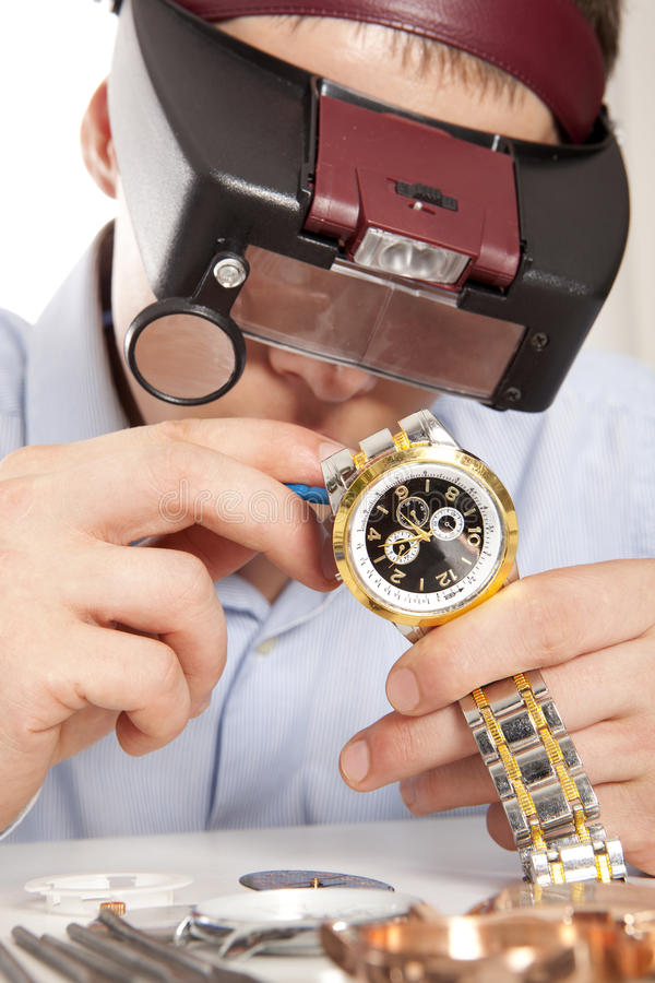Horlogemaker royalty-vrije stock afbeeldingen