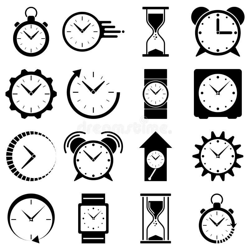 Horlogepictogram Klokembleem royalty-vrije illustratie