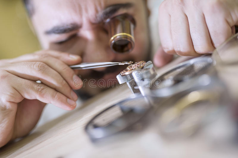 horloger photographie stock