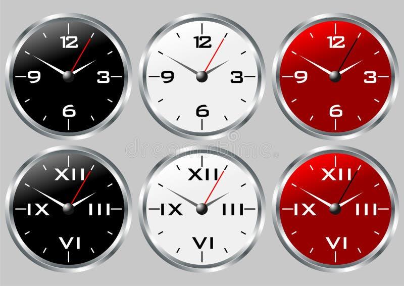 Horloges illustration de vecteur