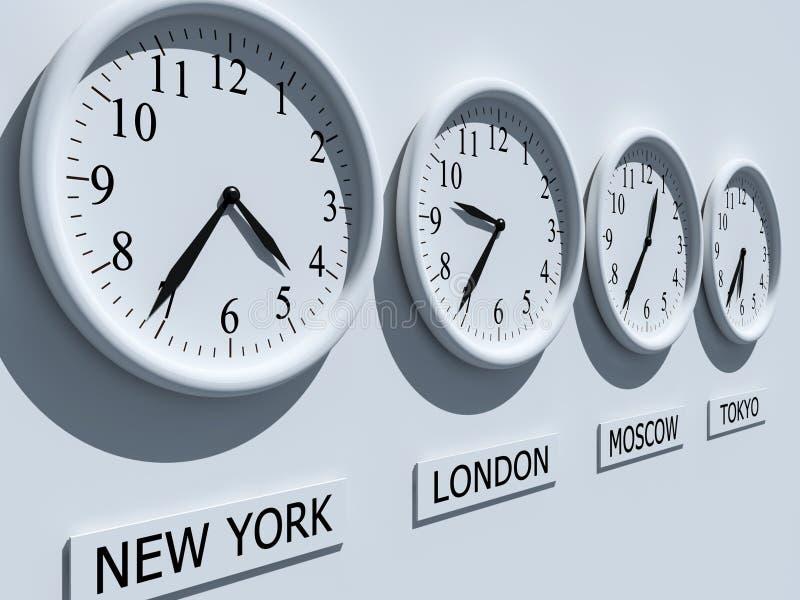 Horloges illustration stock