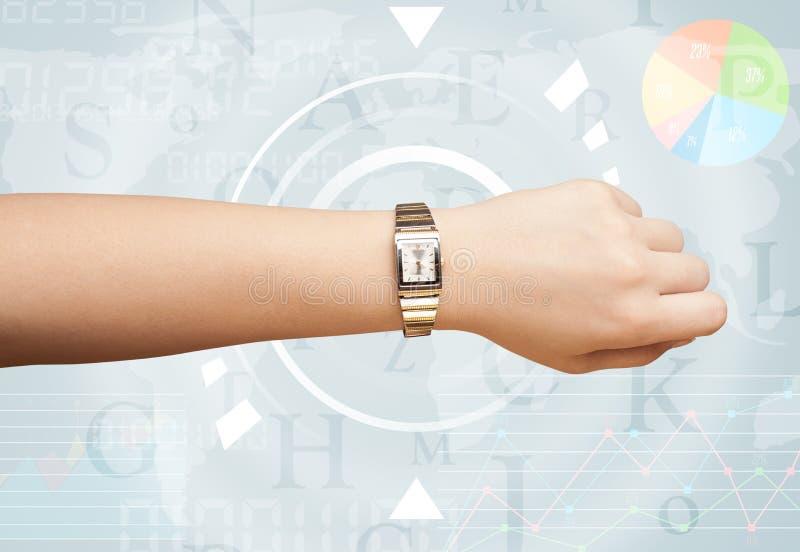 Horloges avec du temps du monde images libres de droits