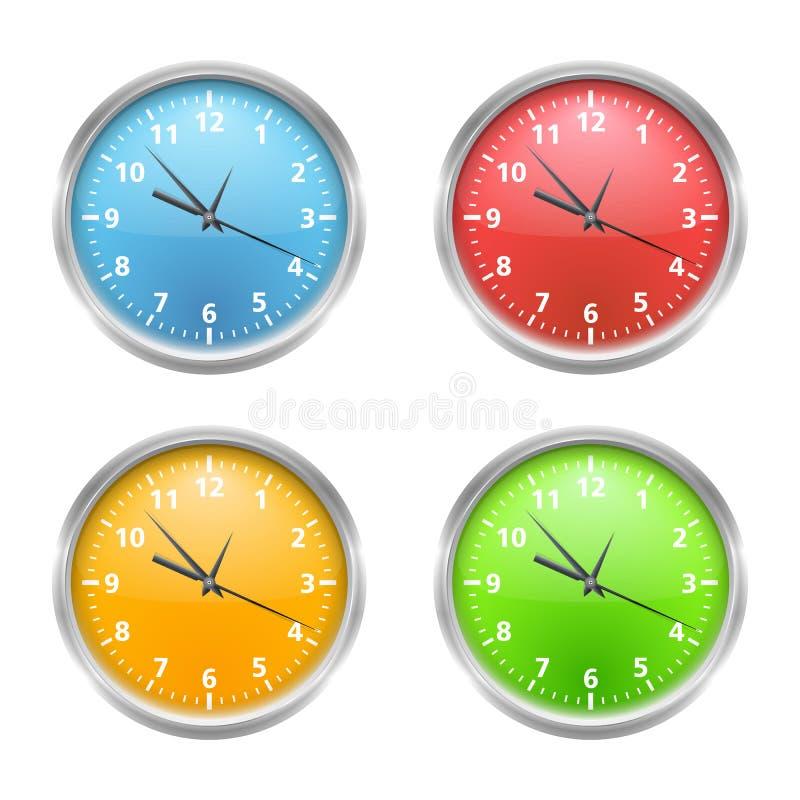 Horloges colorées illustration libre de droits