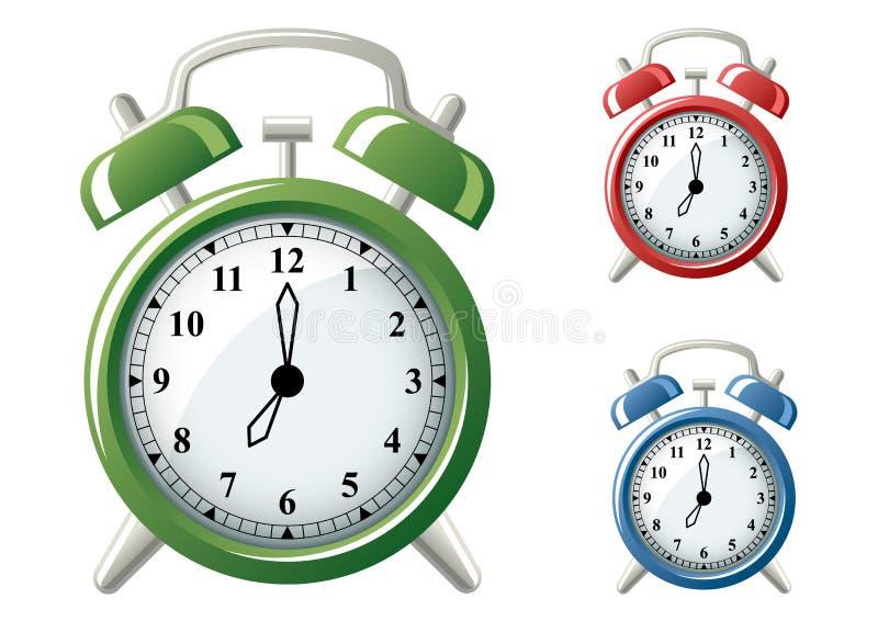 Horloges d'alarme illustration de vecteur