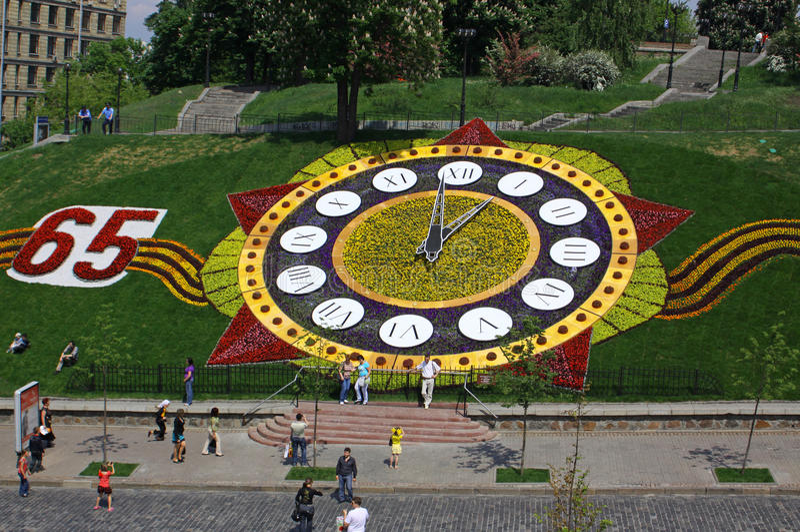 Horloges de fleur photos stock