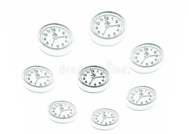 Horloges, dessinant illustration de vecteur