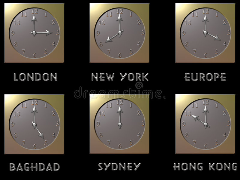 Horloges du monde illustration libre de droits