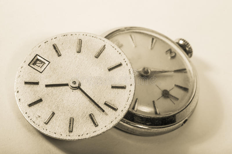 Horloges en toestellen stock afbeelding