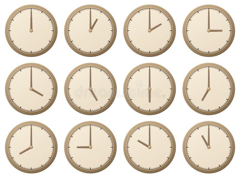 Horloges/illustration de vecteur illustration stock