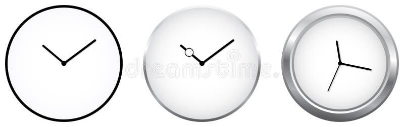 Horloges minimalistes illustration stock