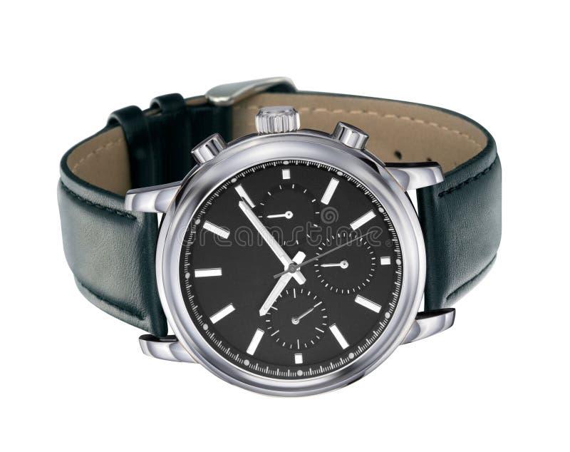 Horloges op een wit royalty-vrije stock foto's