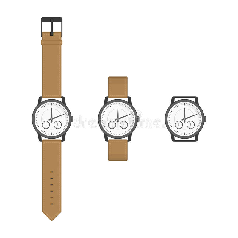 Horloges vectorillustratie stock illustratie