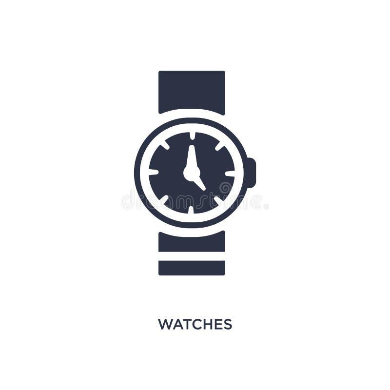 horlogespictogram op witte achtergrond Eenvoudige elementenillustratie van vrije tijdconcept vector illustratie