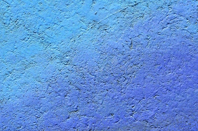 Hormigón pintado en azul imagen de archivo libre de regalías
