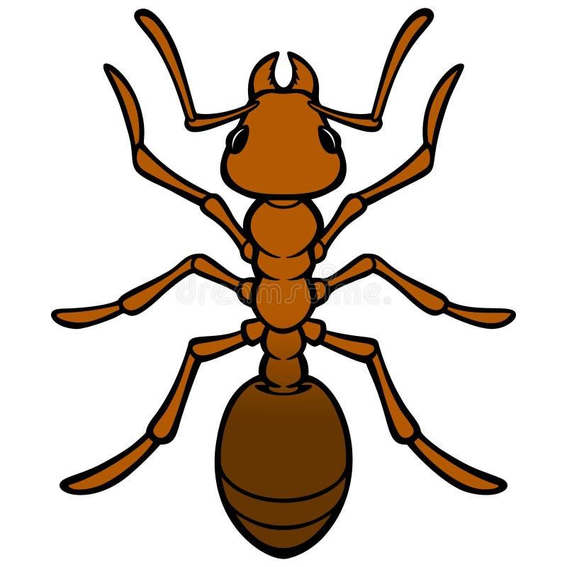 hormiga stock de ilustración
