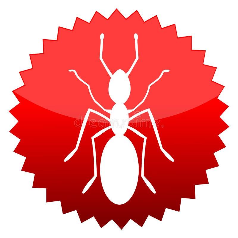 Hormiga, muestra roja del sol ilustración del vector