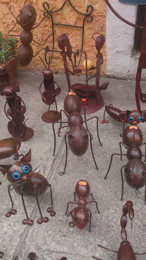 Hormigas en hierro fotos de archivo