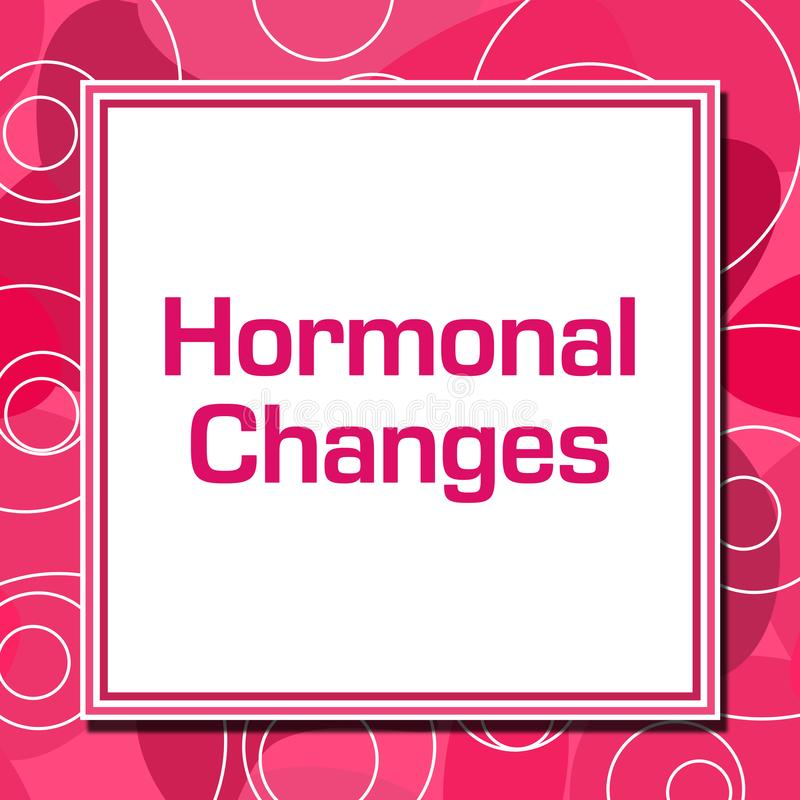 Hormonal Changes Pink Rings Square royalty free illustration