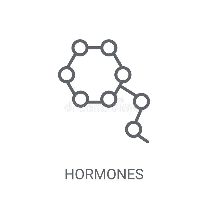 Hormonenpictogram Het in concept van het Hormonenembleem op witte achtergrond vector illustratie