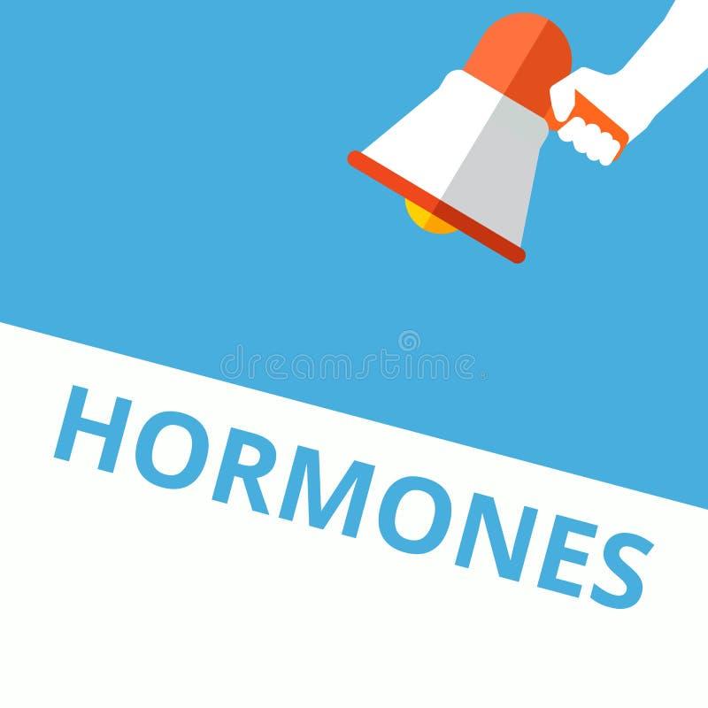 hormones d'écriture des textes illustration stock