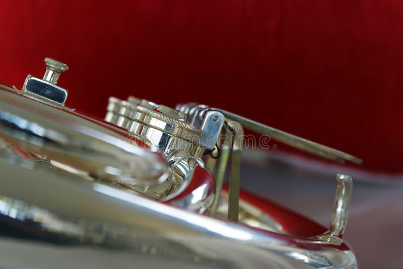 Horn från fanfar arkivbilder