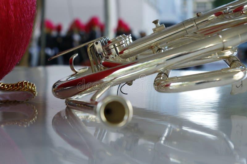 Horn från fanfar arkivfoto