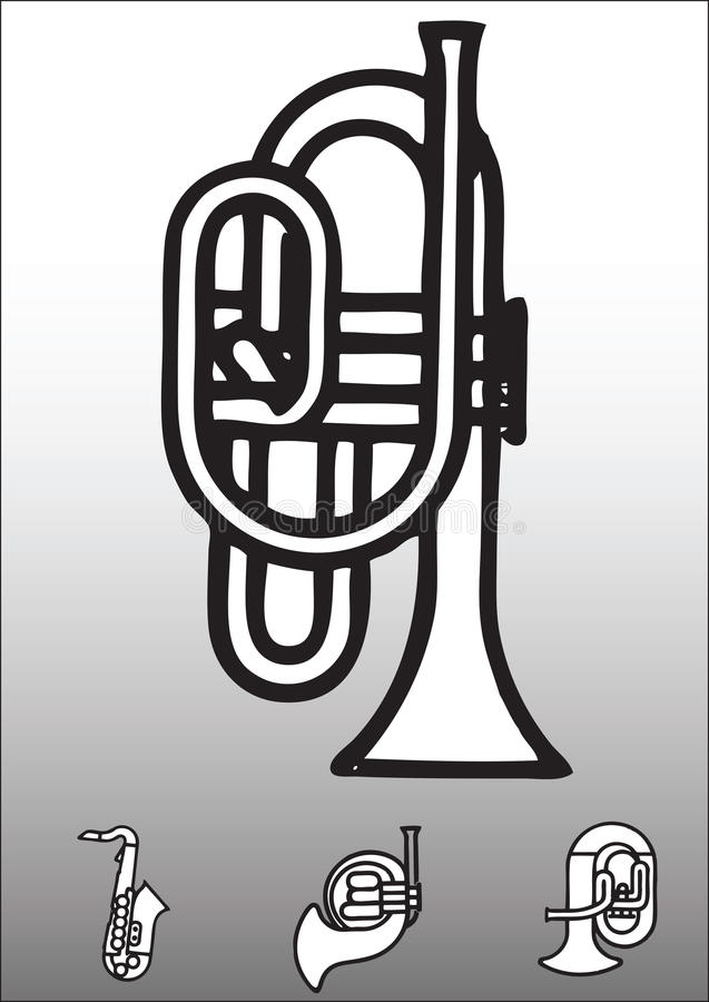 Download Horn instruments stock vector. Illustration of design - 10028896