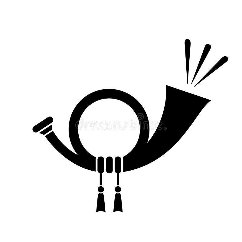 Horn- vektorsymbol vektor illustrationer