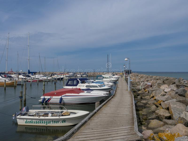 Hornbaek港口,北部西兰,丹麦,斯堪的那维亚 图库摄影