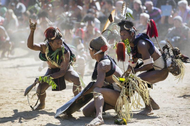 Hornbill-Festival von Nagaland, Indien lizenzfreie stockfotos
