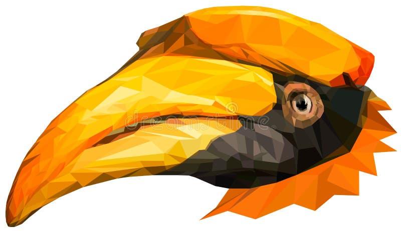 Hornbillf?gel vektor illustrationer