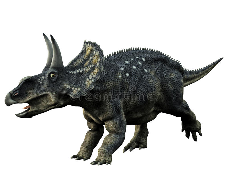 horned dinosaur vektor illustrationer