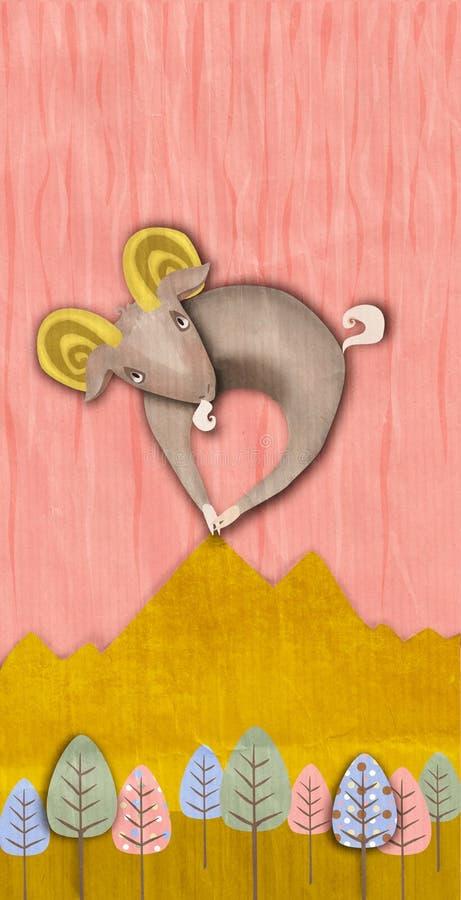 Download Horned Goat stock illustration. Image of goat, head, drawing - 38727862