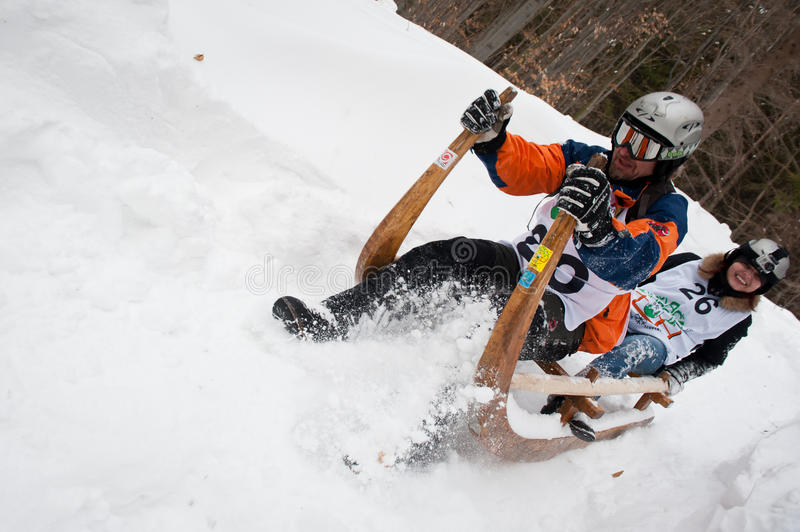 Download Horned Sledge Race 2012 In Turecka, Slovakia Editorial Stock Image - Image: 23522344