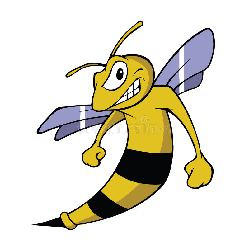 Hornet royalty free illustration