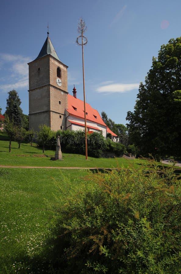 Horni Plana miasteczko - kościół 02 zdjęcie stock