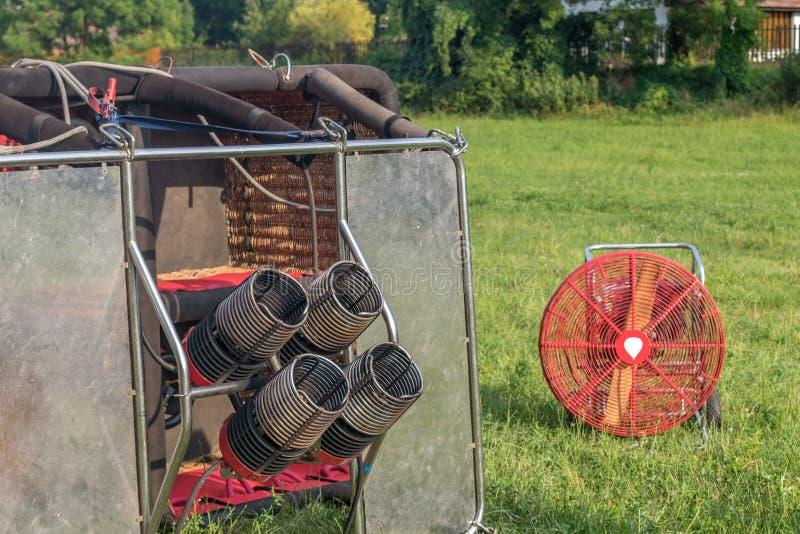 Hornillas del globo del aire caliente fotografía de archivo