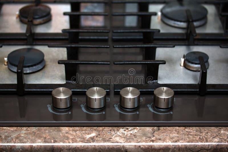 Hornillas modernas de la estufa de gas imagen de archivo