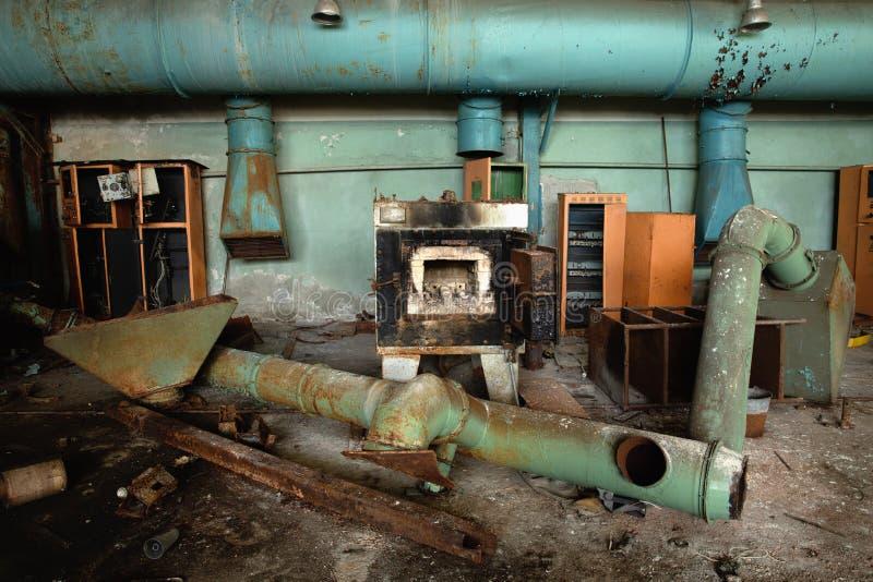 Horno dañado en Jupiter Plant Chernobyl imagen de archivo libre de regalías