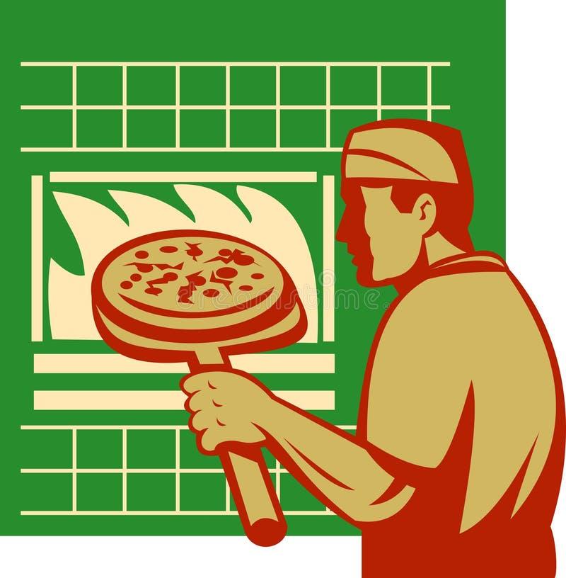 Horno De La Hornada De La Explotación Agrícola Del Panadero De La Pizza Fotos de archivo libres de regalías