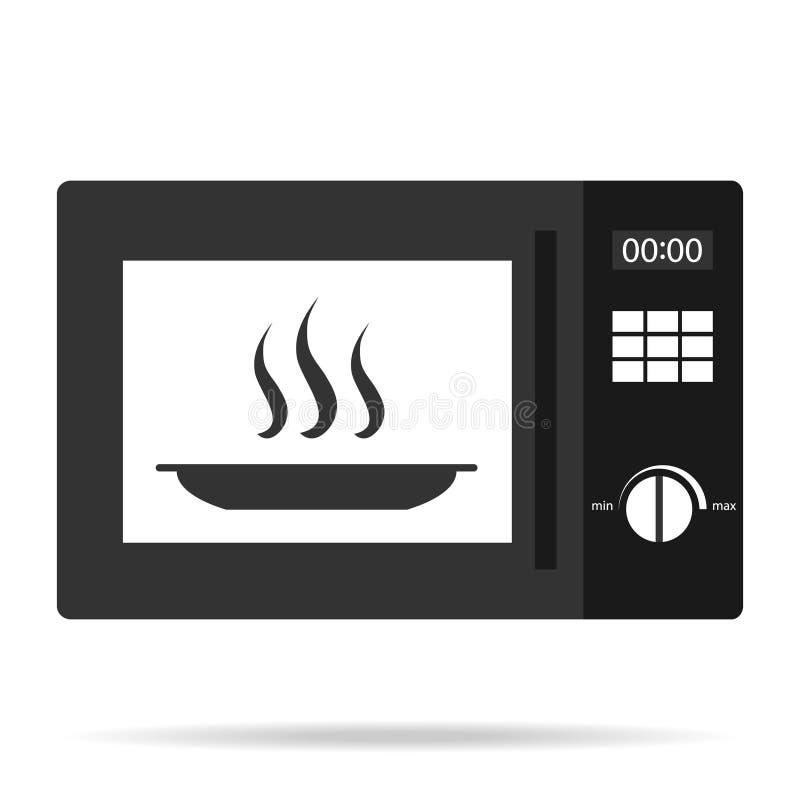 Horno de microondas, icono del horno de microondas ilustración del vector