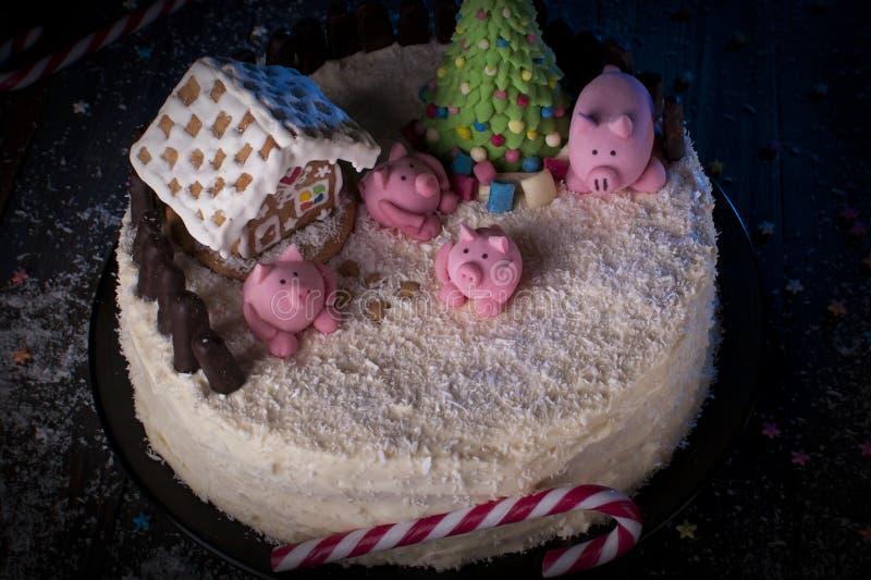 Horno de vacaciones Año del cerdo imagen de archivo