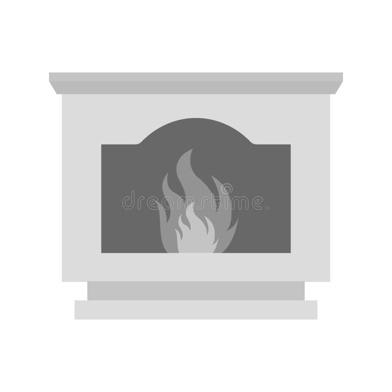Horno del carbón stock de ilustración