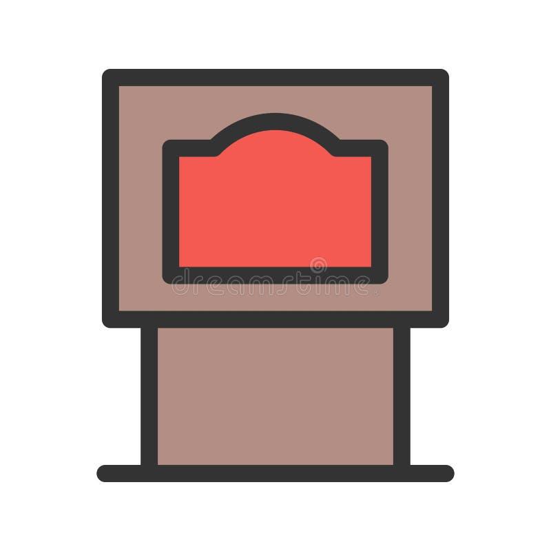 Horno del carbón ilustración del vector