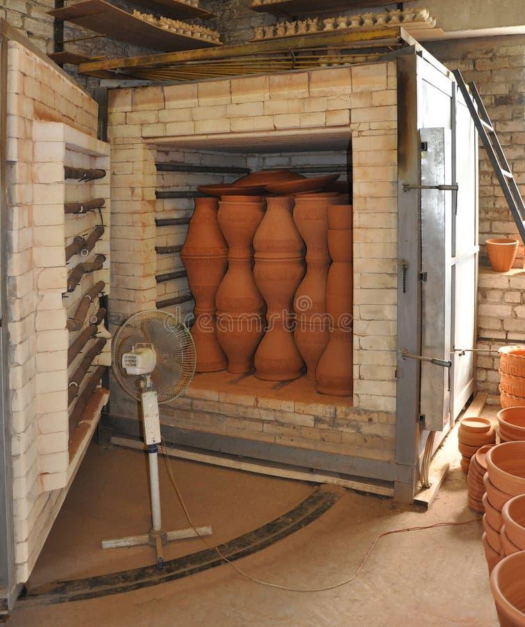 Horno para la cerámica de la despedida. fotos de archivo libres de regalías